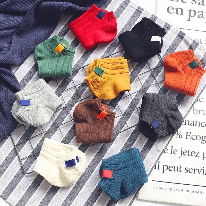 10 Pairs Women Socks Spring Summer Classic Cotton Soft Stripe Socks Ladies College Wind Fashion Lovers Socks Girl Ankle Socks