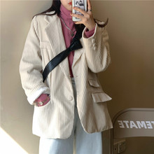 2020 Spring And Autumn New Coat Suit Women Loose Corduroy Small Suit