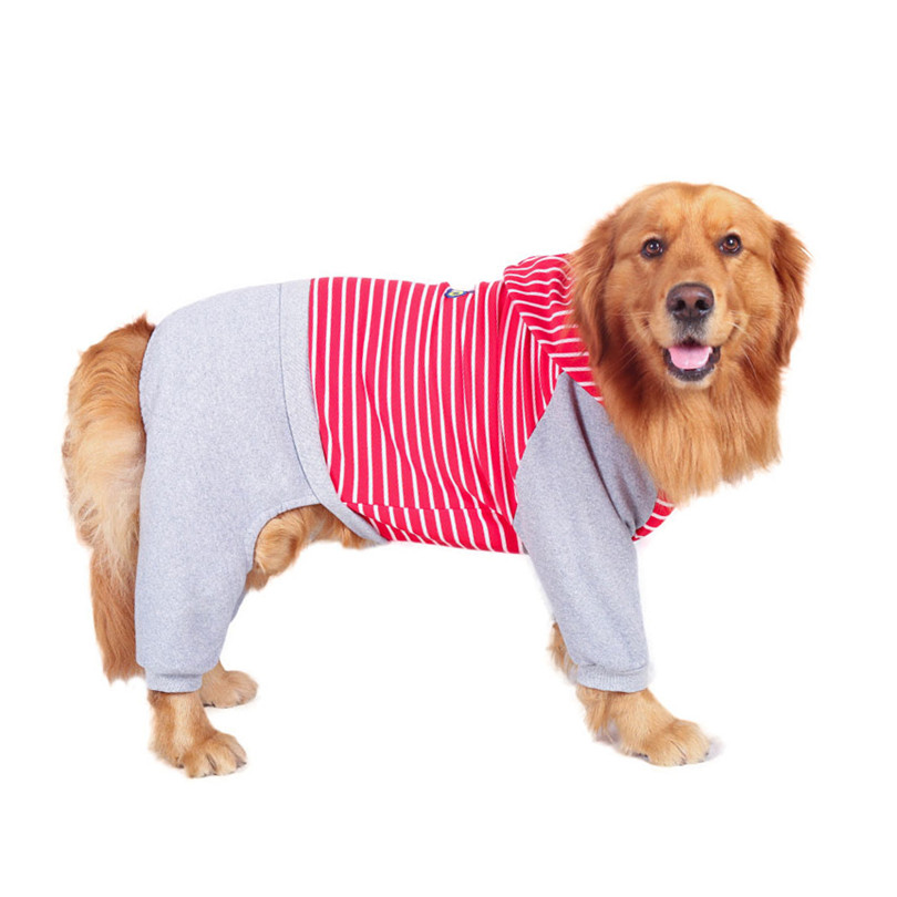 Cotton jumpsuit clothes for large dogs (9)