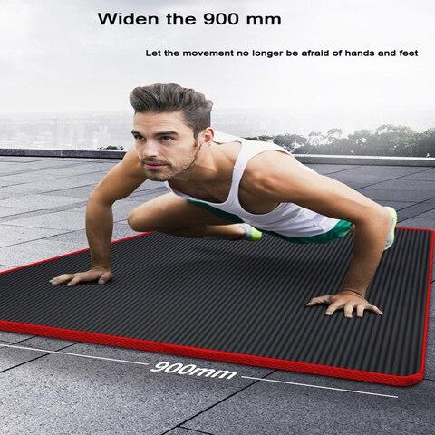 Tapete de Yoga Europeu dos Homens de Fitness Esteira de Yoga Esportes em Casa Centro Exercício Iniciante Engrossar Largo Alongar Non-slip 200*90*1.5 cm Nbr