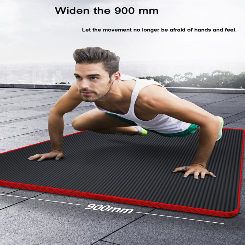 200 * 90 * 1.5cm NBR Yoga Mat Central European Men Fitness Exercise Beginner Yoga Mat Thicken Wide Lengthen Non-slip Sports Home