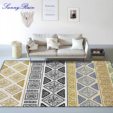 SunnyRain 1-piece Fleece Bohemia Printed Area Rug for Living Room Floor Rug Kitchen Rug