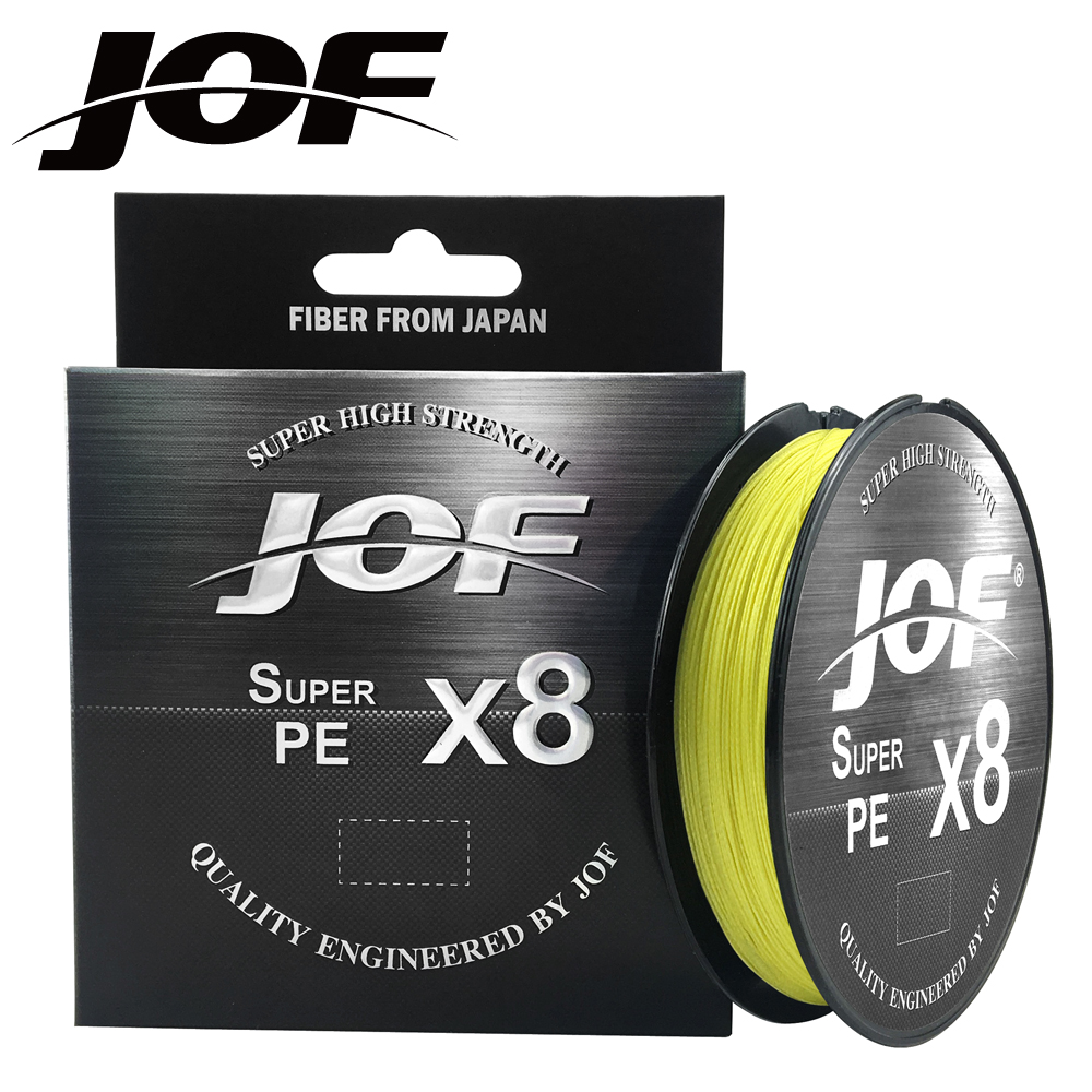 JOF X8 150M 300M 500M Braided Fishing Line 8 Strands MultiColor Multifilament Saltwater PE Line15 20 30 40 60 80 100LB