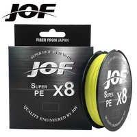 JOF X8 150M 300M 500M Intrecciato la Linea di Pesca 8 Fili Multicolore Multifilamento Acqua Salata PE Line15 20 30 40 60 80 100LB