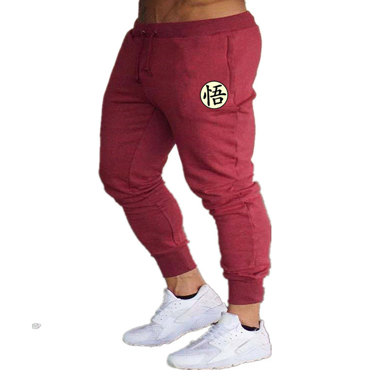 Mens Joggers Casual Pants Fitness Male Sportswear Cotton Skinny Sweatpants Trousers Gyms Print Dragon Ball Goku Track Pants 2020
