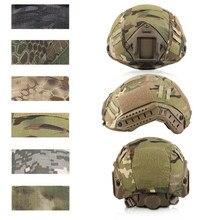 Tactical multicam capacete capa para rápido airsoft capacetes paintball wargame engrenagem pj/bj/mh tipo capacetes balísticos capa acessórios