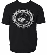 Shirt T Military Special Army Forces Sas Mens Royal Combat Marine British wolf(China)