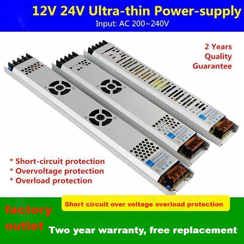 12V ultra dünne licht box netzteil 24V LED werbung licht mit kein stroboskop gebaut-in spannung stabilisiert SUSWE