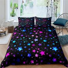 Geometric Pattern Bedding Set 3D Gypsophila Bedroom Soft Duvet Cover&Pillowcase Bedspread Single Queen King Size 2/3 Pcs