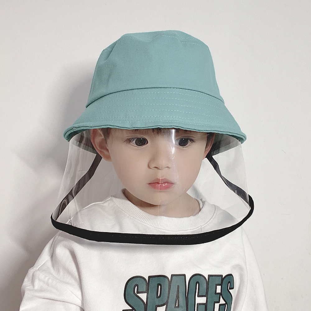 NEW Children Antibacterial Anti Fog Dust Cap 2 In 1 Hat For Kid Anti Flue Spittle Anti Dust Cover Full Face Eye Protect Hat Veil