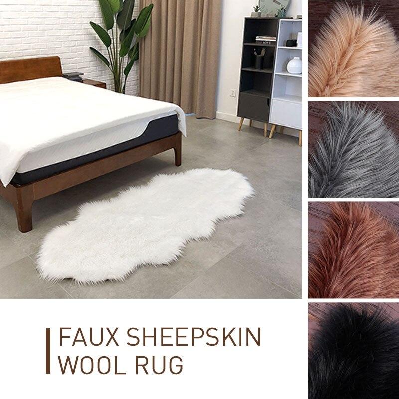 Laine tapis tapis plancher canapé maison multicolore vague forme anti-dérapant moelleux tapis tapis chaise 180X80cm décoration chambre