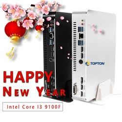 Intel Core i9 9900 i7-9700F i5-9400F Mini Gaming PC GPU GTX 1050TI 4GB Mini Processor AC WiFi 2*HDMI2.0 DVI DP Max 4*Displays PC