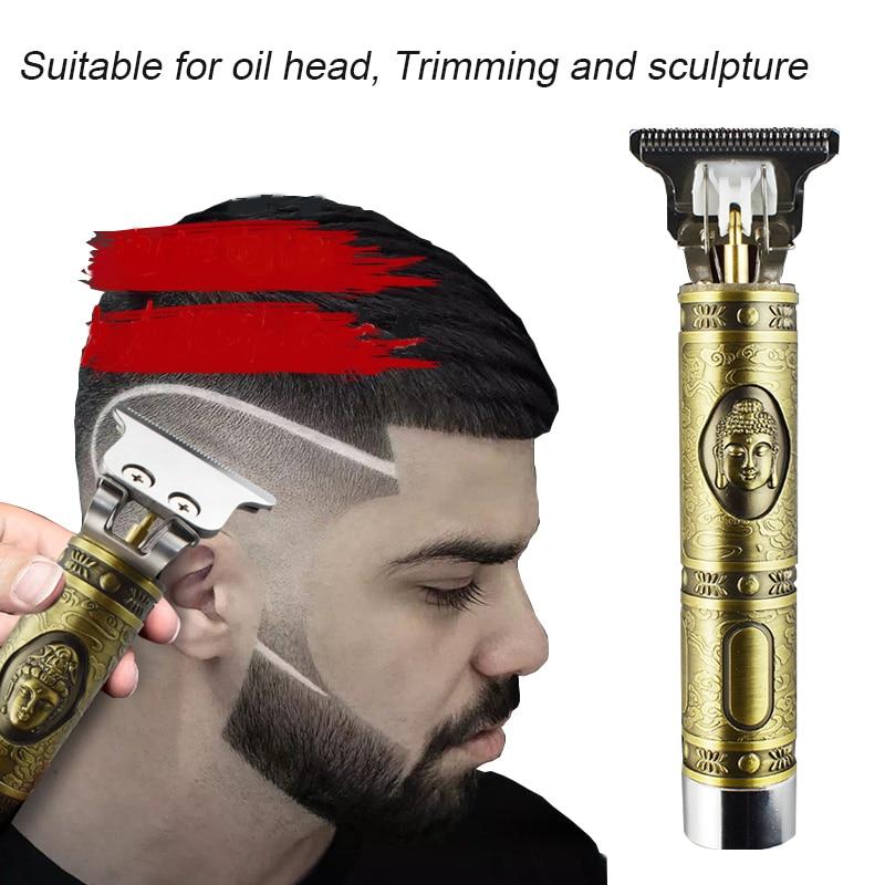 Electric Pro T-outliner Trimmer Men Hair Clipper Carving Carbon Fiber Metal Powerful