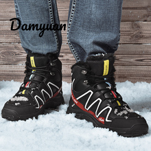 Damyuan Winter Men Boots Outdoor Snow Ankle Male Lace Up Anti-slip Booties British Sneakers Plus Size 48 Zapatos De Hombre