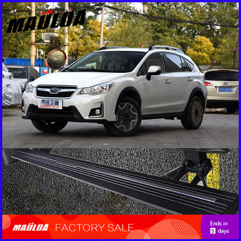 Car Accessories High quality aluminium alloy Automatic scaling Electric pedal side step running board for XV 2017+