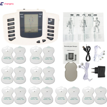 JR 309 Hot new Electrical Stimulator Full Body Relax Muscle Therapy Massager,Pulse tens Acupuncture +16 pads