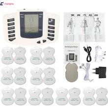 JR 309 Sıcak yeni Elektrikli Stimülatörü Tam Vücut Relax Kas Terapi Masajı, Darbe onlarca Akupunktur + 16 pedleri