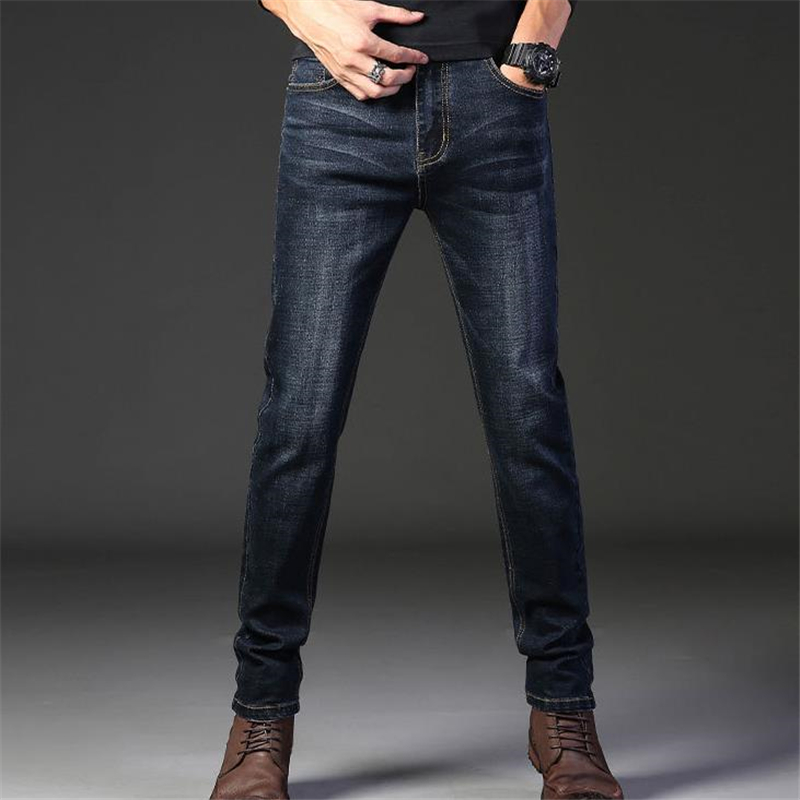Man Spring Plus Size Jeans Autumn Oversize Jeans Denim Pants Straight Denim Trousers Male Mezclilla Pantalones Stretch Pantalons