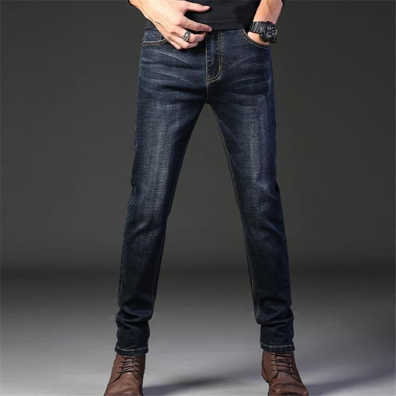 Man Spring Plus Size Jeans Summer Oversize Jeans Denim Pants Straight Denim Trousers Male Mezclilla Pantalones Stretch Thin