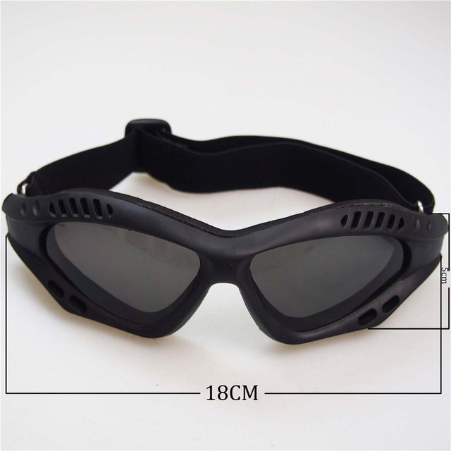 Óculos de proteção da motocicleta ciclismo óculos elásticos cs tactical óculos de segurança à prova de vento anti-poeira esportes ao ar livre 6