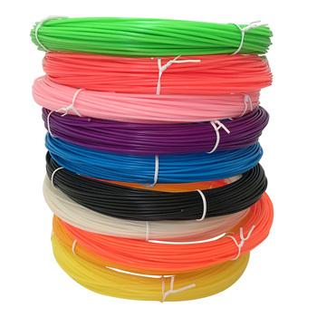Filamenty do drukarek 3D 100 metrów 10 kolorów 3D pióro do dekorowania nici z tworzywa sztucznego drut 1 75mm materiały eksploatacyjne do drukarek 3D włókno długopisowe abs tanie i dobre opinie myriwell CN (pochodzenie) Stałe 5 Metr