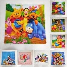 Disney Cartoon Winnie Bear Mickey Minnie Decorative/Nap PillowCase Cover Pillowsham Cushion Cover for Kids Children Gift 45x45cm