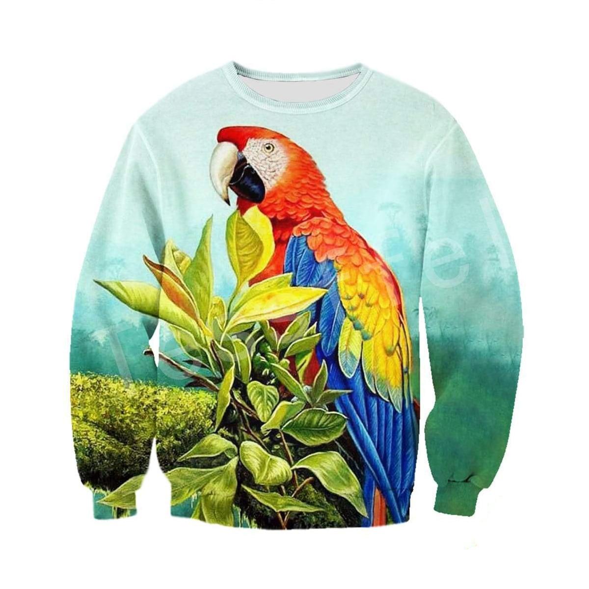 Tessffel Animal Parrot Tracksuit MenWomen HipHop 3Dfull Printed Sweatshirts Hoodie shirts Jacket Harajuku Casual colorful Style7 in Hoodies amp Sweatshirts from Men 39 s Clothing