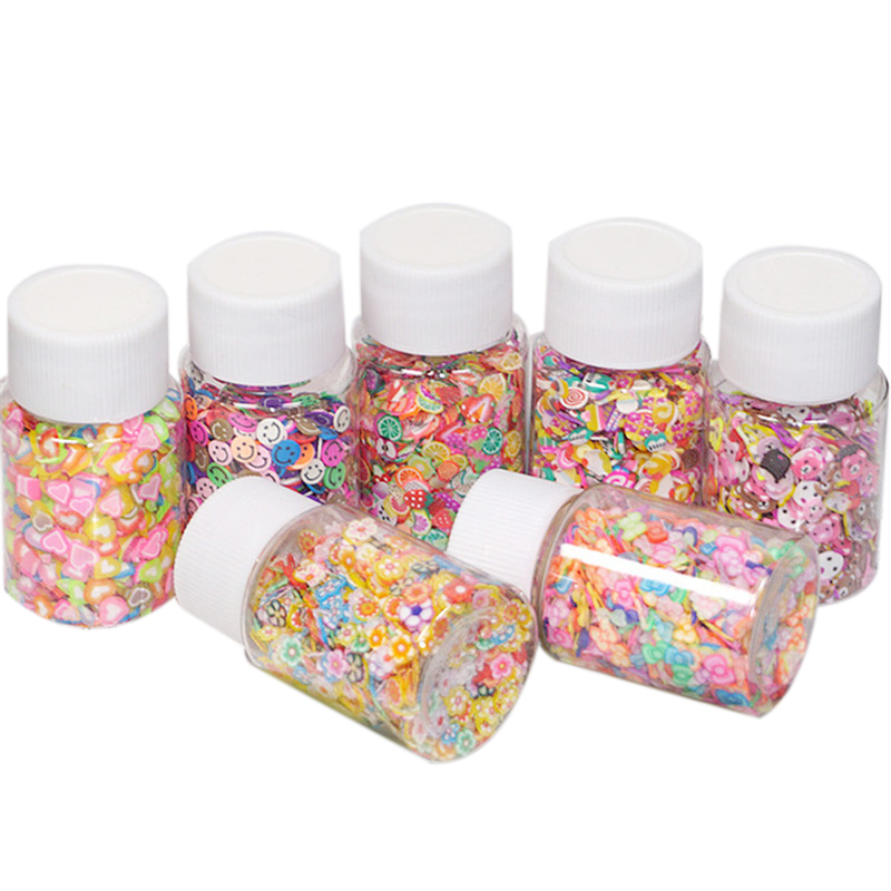 1200pcs DIY Slime Soft Fruit Slices Fingernail Supplies Super Light Clay Accessories Cream Glue Material Toys For Children  Gift