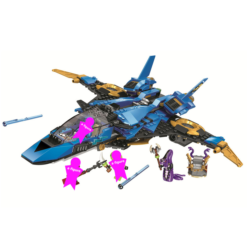 <font><b>Ninjagoed</b></font> Legacy Jay's Storm Fighter Building Blocks Kit Bricks Ninja Classic Movie Model Kids Toys For Children Gift image