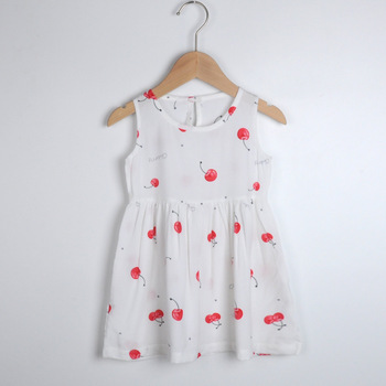 1 2 3 4 5 6 7 8 Years Summer Girl Princess Dress Cotton Cherry Dresses Polka Dot Kids Dresses for Girls Children Clothing girls dress summer children bohemia maxi dress floral princess party long dresses for girls 3 4 5 6 7 8 9 10 years girl clothes