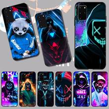 CUTEWANAN Street Youth Neon Mask Customer High Quality Phone Case for Samsung S20 plus Ultra S6 S7 edge S8 S9 plus S10 5G
