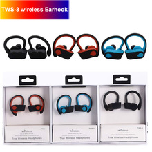 TWS 3 Wireless Bluetooth Headset Earphone In-ear Sports Ear Hook Wireless Headphones Earbuds For Iphone Samsung Earphones getihu bluetooth earphone headphones for apple iphone x wireless earphones headset phone mini bluetooth charger in ear earbuds