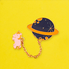 Unicorn Brooches Planet Badges for Backpack Universe Badges for Clothes Space Badge Enamel Pins for Backpacks Clothes Lapel Pin planets badges for backpack universe brooches space man badge enamel pins for backpacks badges for clothes clothes lapel pin diy