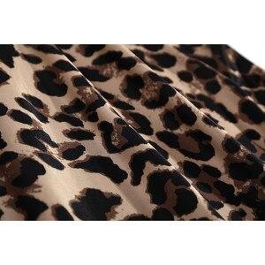 Image 4 - JULYS SONG ensemble pyjama 4 pièces, nouvelle mode, bretelles en soie artificielle imprimé léopard, vêtements de nuit, vêtements de nuit pour femme