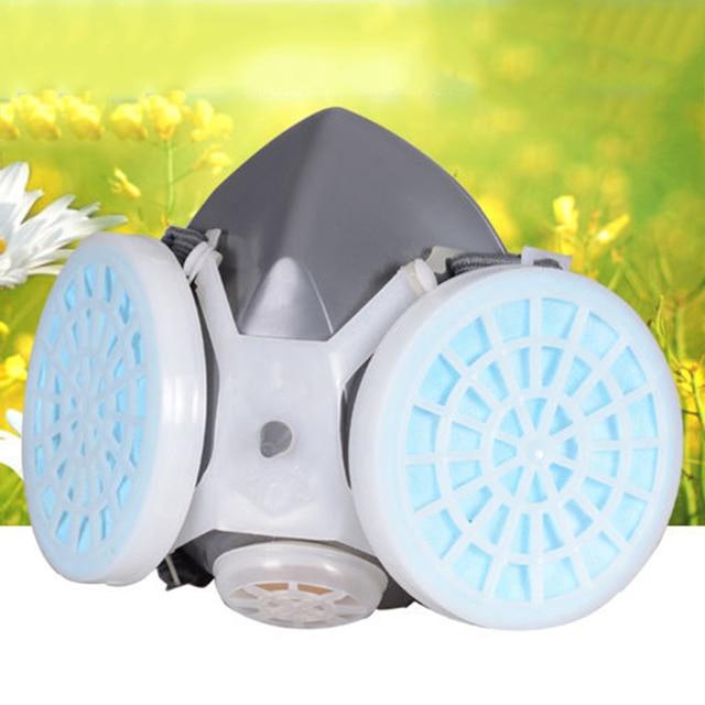 Anti flu Anti Virus Mask Double Filter Gas Mask Painting Spraying Anti Dust Fog Haze Facepiece Respirator Protective mask 1