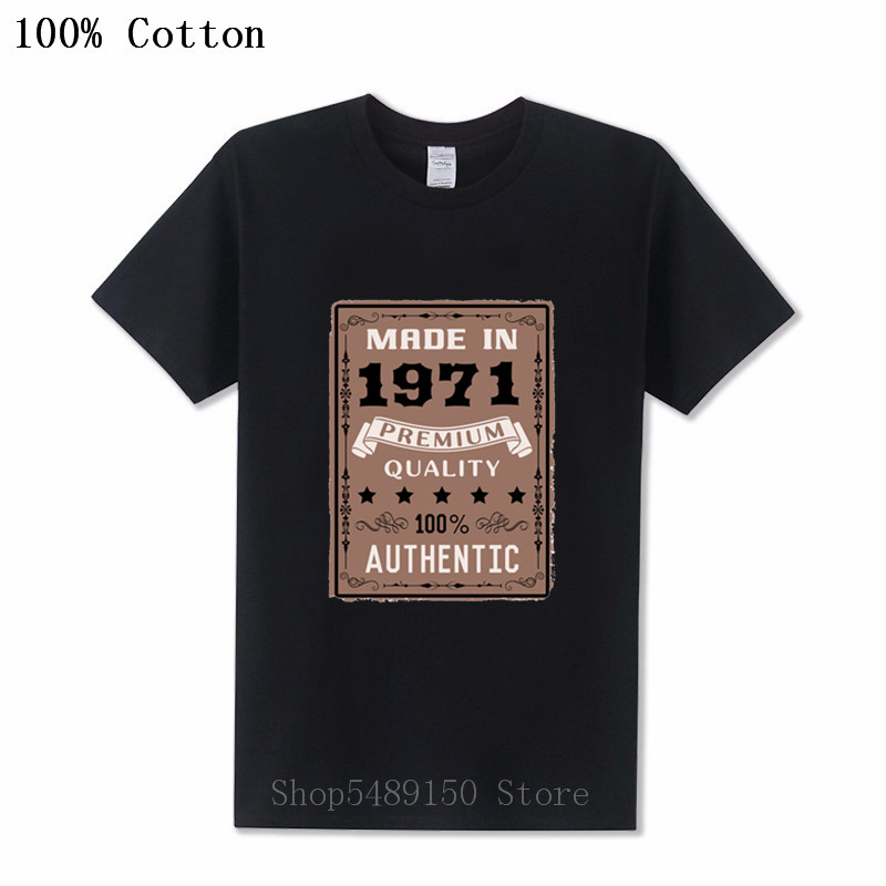 3D <font><b>Vintage</b></font> <font><b>1971</b></font> Perfection 48 Years Apparel T-Shirt Men Dad Father Birthday Gift Short Sleeve Cotton Tshirt O-neck Retro Top Tee image