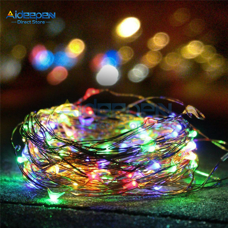 100 LED Outdoor Solar Waterproof Lamp Christmas Decoration Lights Led Strip Holiday Wedding Party Garden Decoration