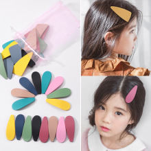 16Pcs/lot Korean Hair Clips for Girls Women Glitter Waterdrop Hairgrips Fashion Candy Color Hairpins Party Dance Kids Headwear