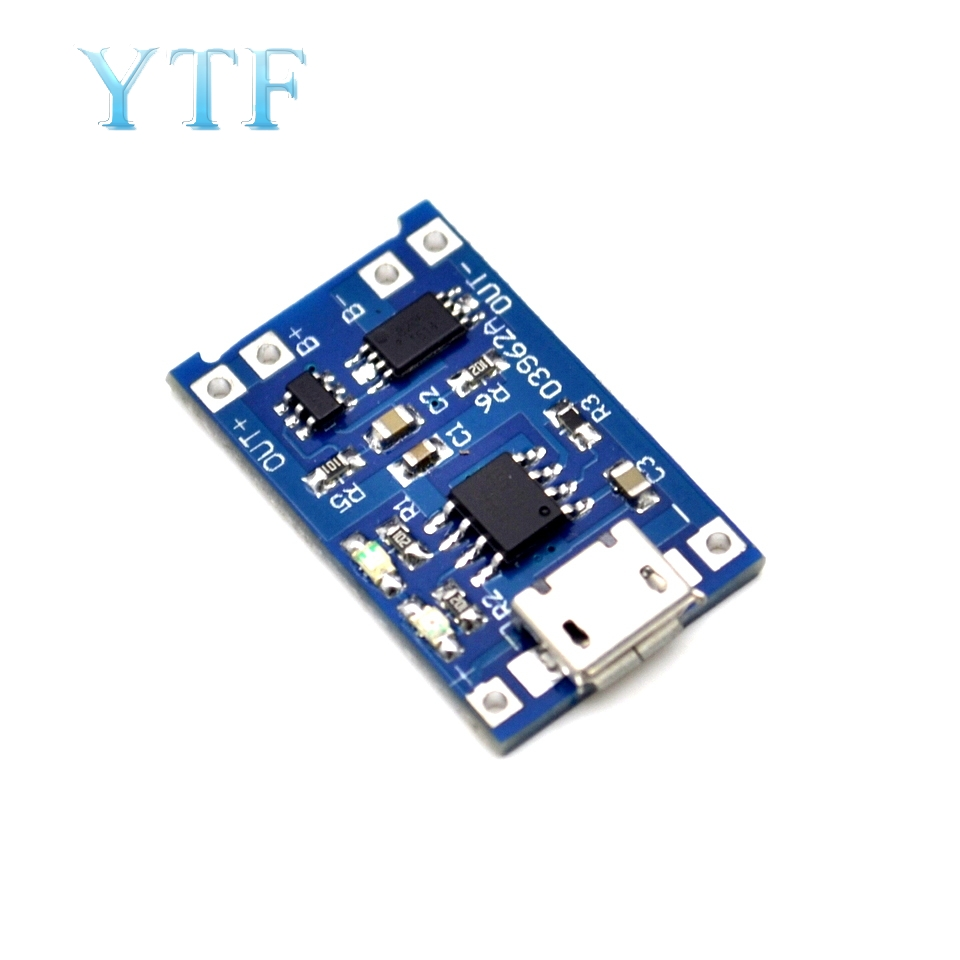 Harge And Protection One Board 1A Lithium Battery Charging Board 18650 Lithium Battery 5pcs