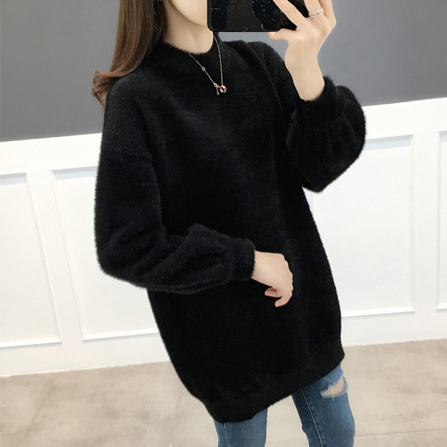 Ailegogo Women Sweater Spring Autumn Casual O Neck Knitted Pullovers Korean Style Long Sleeve Knitwear Female Tops 6