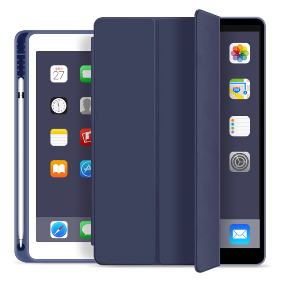 iPad 7 7th DBL Blue For iPad 10 2 7th Generation Case with Pencil Holder for iPad 2019 10 2 Slim