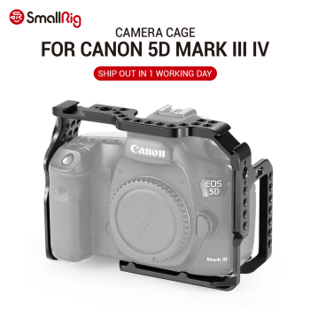 SmallRig 5D Mark IV Cage Camera Cell for Canon 5D Mark III IV cage With Nato Rail Cold Shoe Mount for DIY Option 2271 dste bg e20h battery grip for canon eos 5d mark iv 5div 5d4 with remote control dslr camera