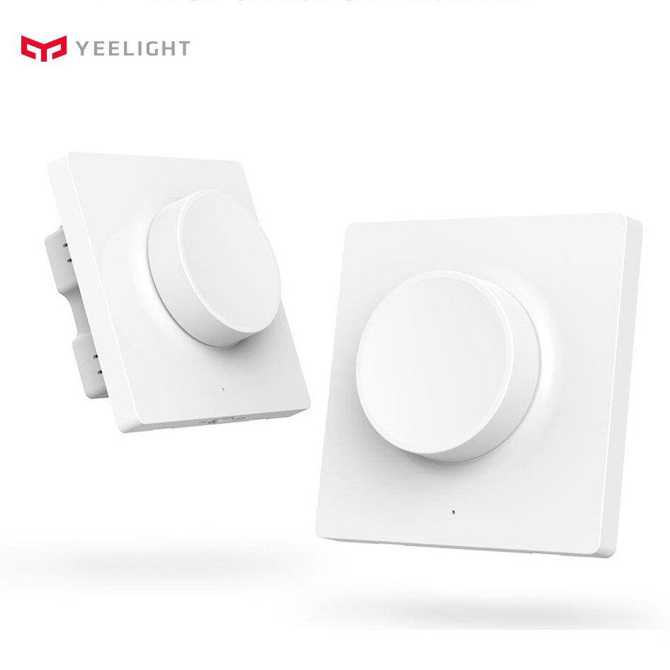 compatible con Google Home Installation-Free Aqara Smart Light Switch 2-Gang-WLAN-Wand Wireless-Dimmer
