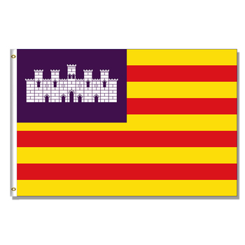 Flag of the Balearic Islands 3x5FT 150X90CM banner 100D Polyester brass grommets indoor outdoor custom flag image
