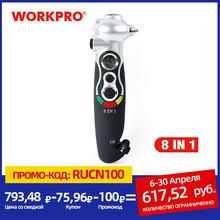 WORKPRO – manomètre numérique pour pneus 8 en 1, brise-verre, sauvetage, marteau d'urgence, lampe de poche, coupe-ceinture de sécurité