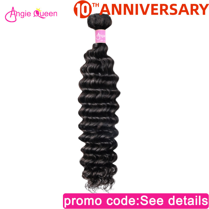 Deep Wave Bundles Indian Remy Hair Bundles 100% Human Hair Weaves NonRemy Hair Bundles Hair Weft Bundles 20 22 24 26 Angie Queen