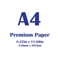 Белая бумага 100 листов Премиум a4 размер 210x297 мм (83x117