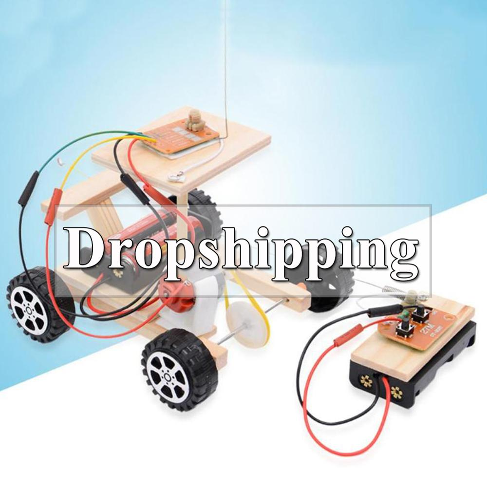 20type DIY Wireless Remote Control Racing Model Kit Wood Kids Physical Science Experiments Toy Set Assembled Car Educational Toy