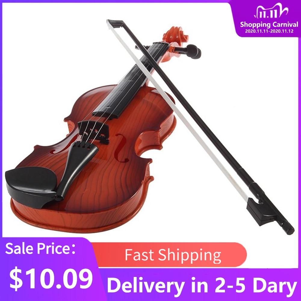 Новая модная и образовательная детская супер милая мини музыкальная электронная скрипка подарок для детей мальчик девочка игрушка комната...