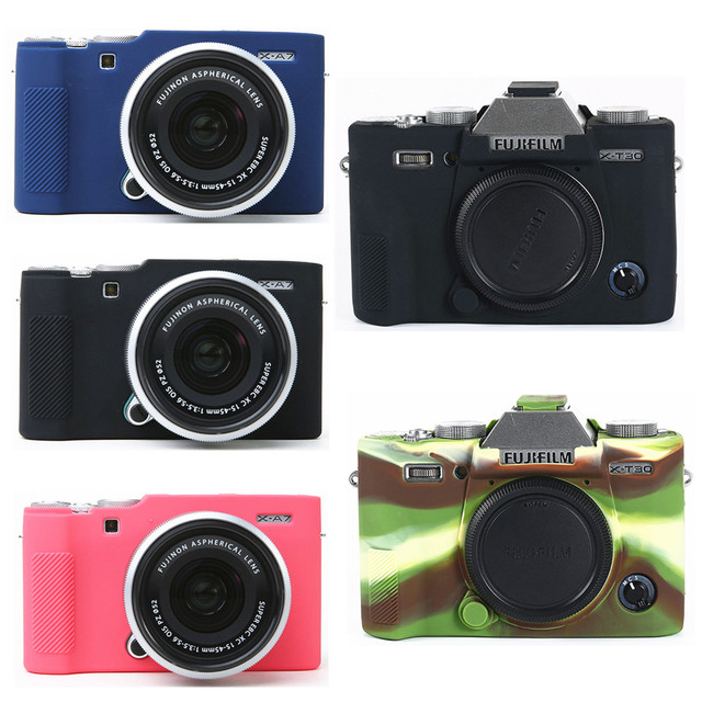 غطاء من السيليكون حقيبة كاميرا ل فوجي فيلم X100V X T200 X T100 XT100 XT4 X T4 X T3 X T30 XT30 X A7 XA7 X T20 X T10 X A5 X A20 XT200